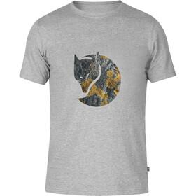 Fjällräven Rock Logo Miehet Lyhythihainen paita , harmaa